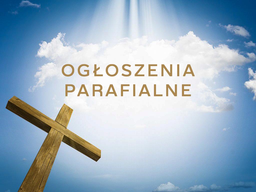 OGLOSZENIA-parafialne